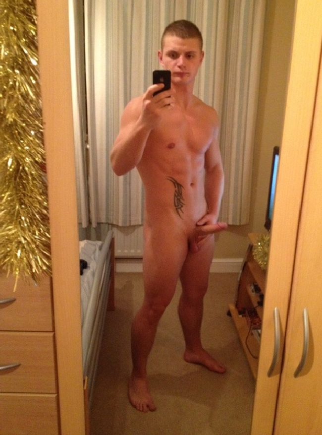 Nude Man Taking Selfie