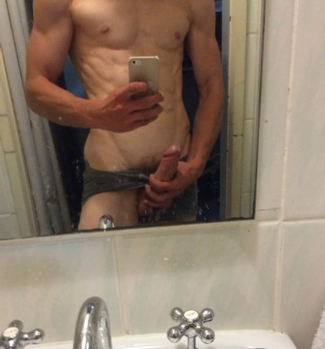 Stud Taking Cock Picture