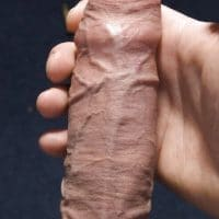 Holding Uncut Cock
