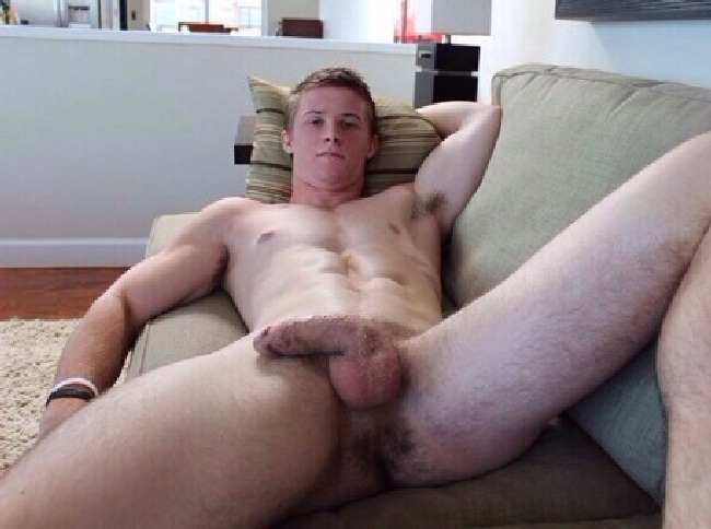 Nude Muscle Man Laying In A Sofa - Gay Cam Pictures