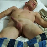 Sexy Nude Man In Bed With Hard Cock